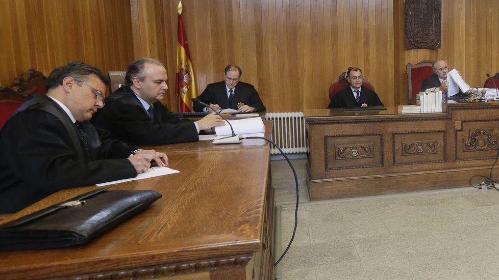 Imagen de la vista celebrada en la Audiencia de A Coruña.