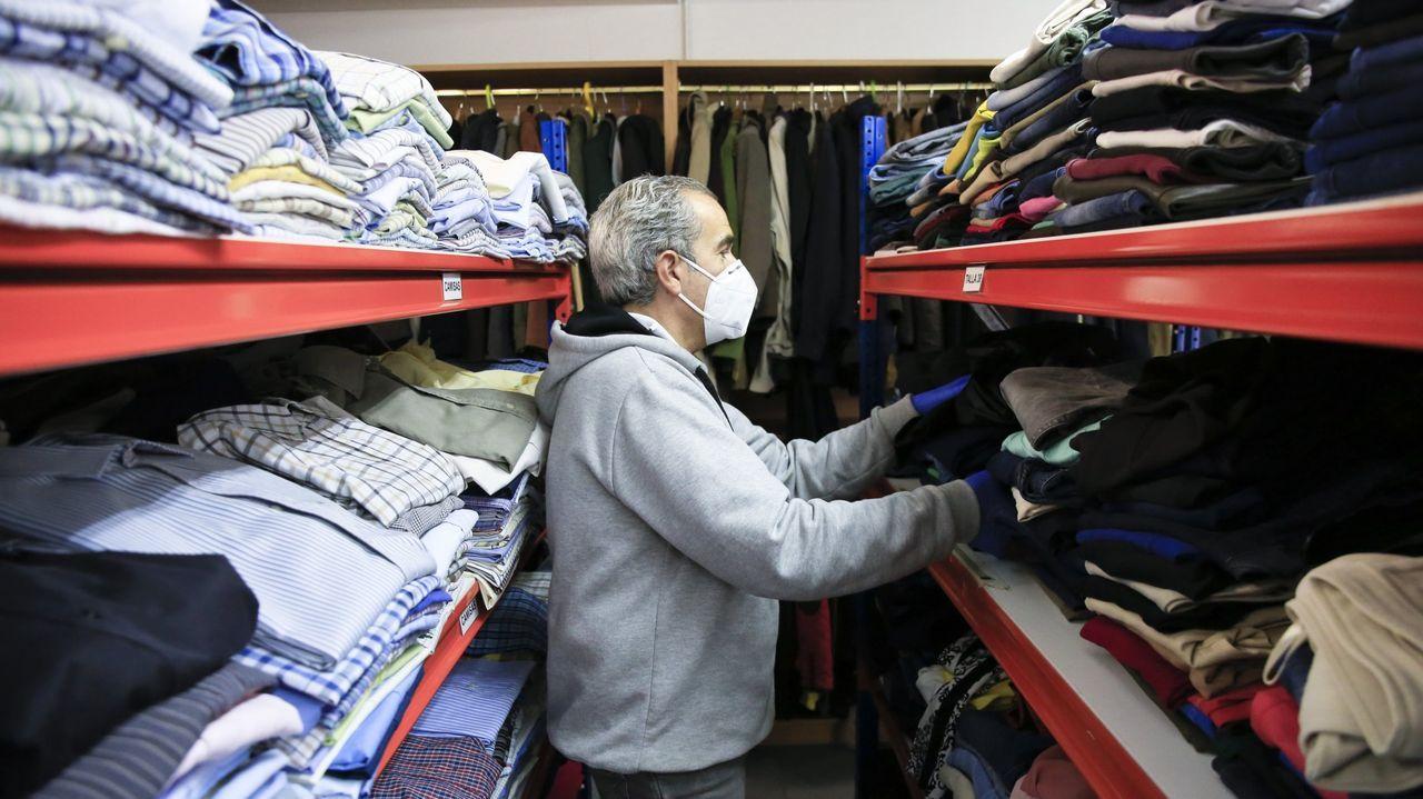 El ropero de Lugo atendió a 1.023 personas de la ciudad durante el año pasado