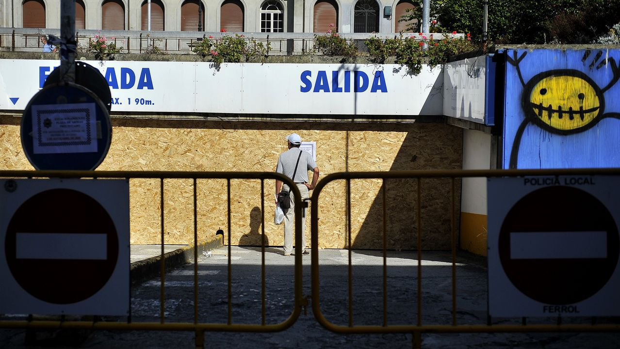 Los grandes murales, principales novedades en Canido.Frente al lavadero de Ínsua