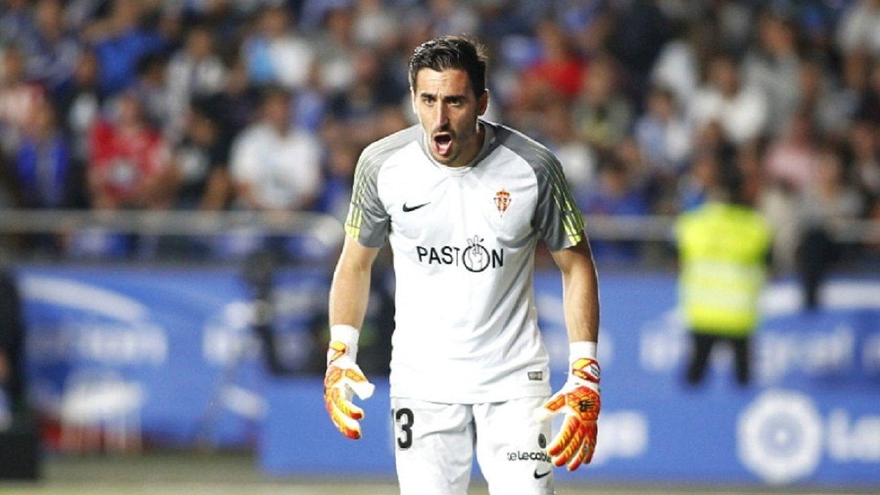 Diego Mariño, tras atajar el penalti