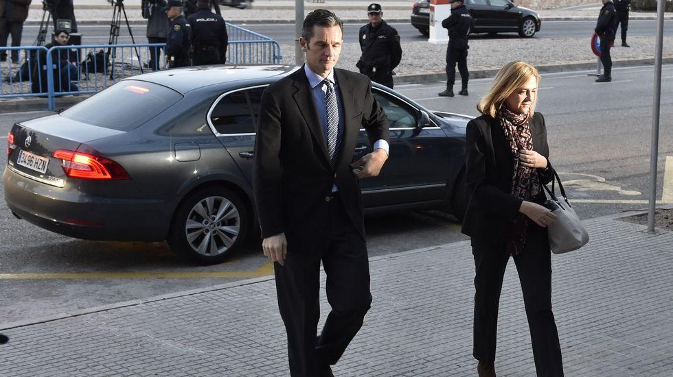 La infanta Cristina e Iñaki Urdangarin llegan al juicio del caso Noos