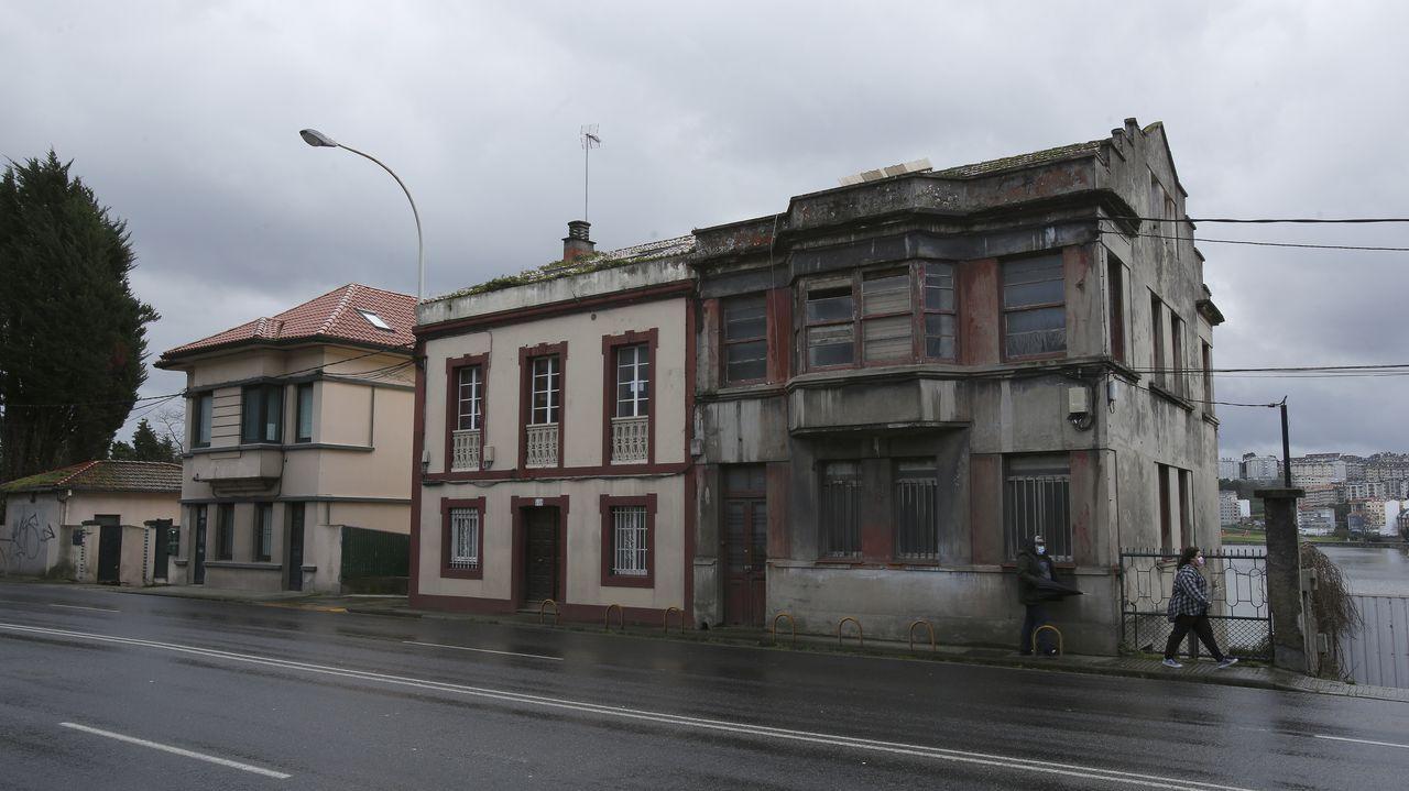 casas.La presencia del eucalpto es habitual en bastantes comarcas de Galicia