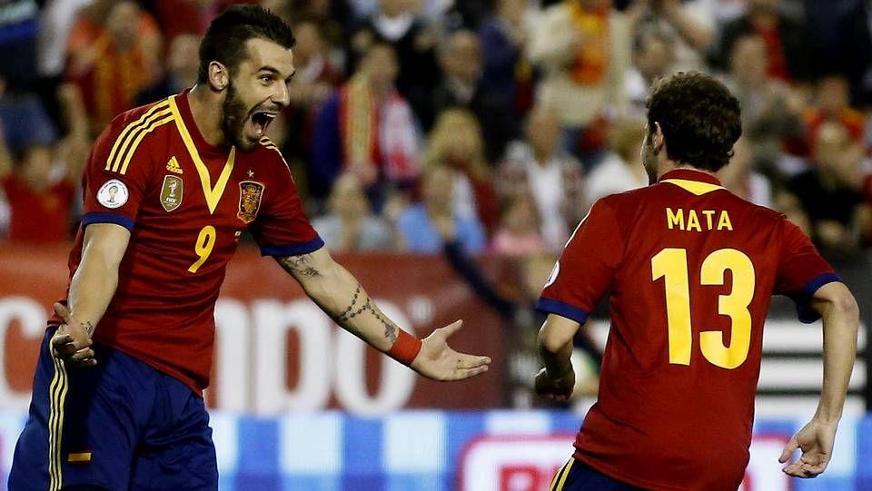 El debut de Iago Aspas con España, en fotos