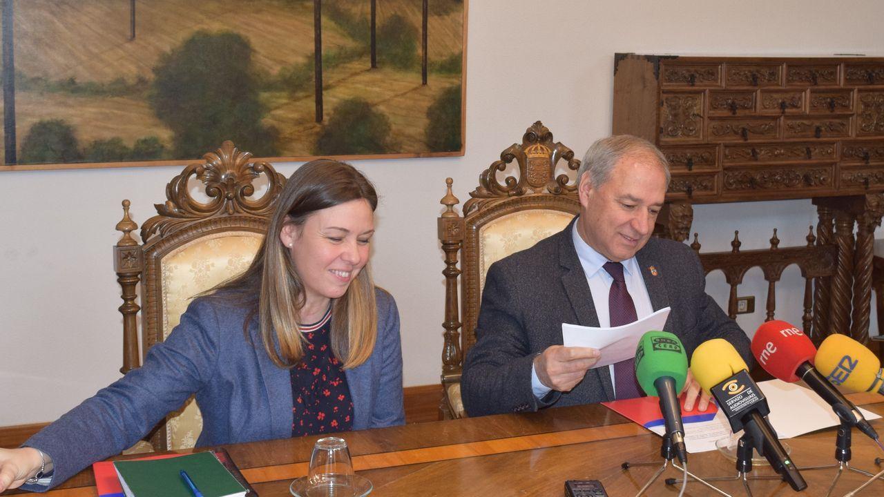 Pleno de la Diputación de Lugo, que preside José Tomé