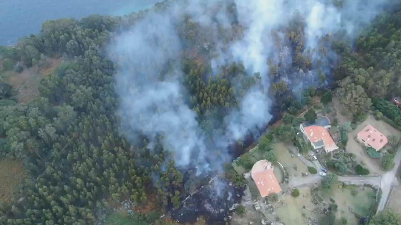 Una barbacoa desató el incendio del paraje natural de Punta Couso