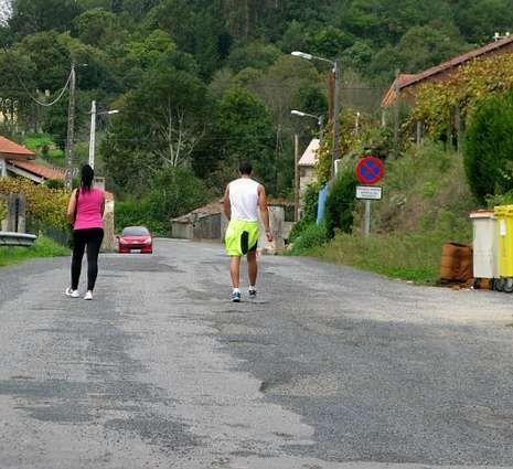 Un tramo aislado de A Barquiña, por donde pasa el camino.