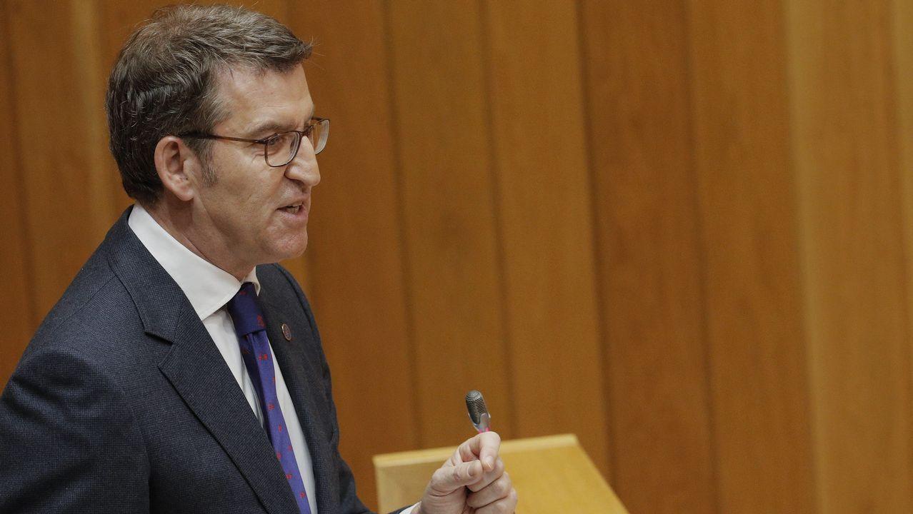 El PPdeG ataca a sus rivales.El presidente de la Xunta, Alberto Núñez Feijoo