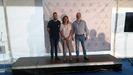 José Manuel Zapico, Marta Mori y Rubén Medina, de CCOO, durante la presentación del Proyectu 2018 pola Oficialidá.José Manuel Zapico, Marta Mori y Rubén Medina, de CCOO, durante la presentación del Proyectu 2018 pola Oficialidá