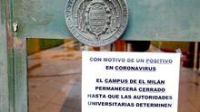 El campus de El Milán cerrado