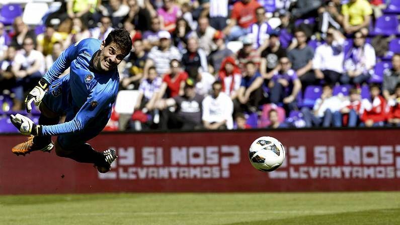 Vídeo previa: Valladolid - Deportivo.El portero del Valladolid encaja el gol del Getafe