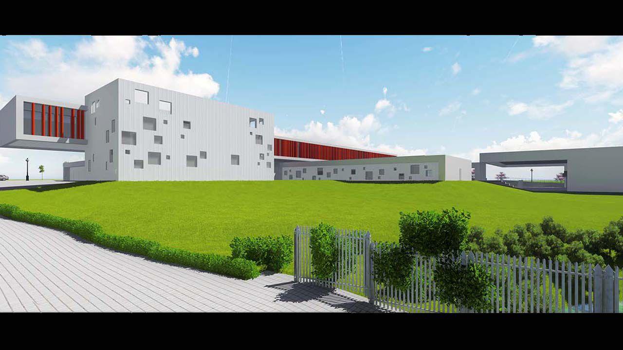 Así será el Instituto de la Florida.Imágenes del libro Oviedo. Forma urbis
