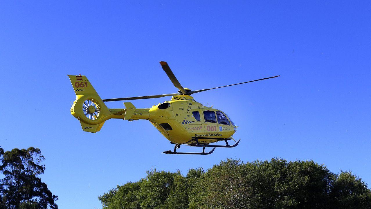 Hasta el lugar de los hechos se ha desplazado un helicóptero medicalizado