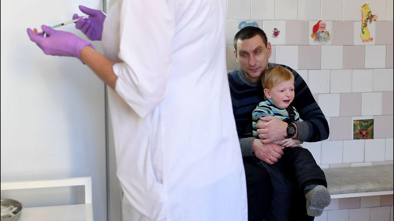 Campaña de vacunación en Kiev, Ucrania