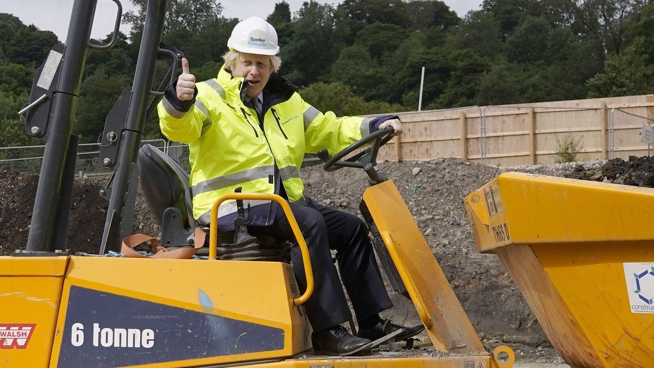 Boris Johnson, este martes, al presentar su plan de reconstrucción de la economia del Reino Unido