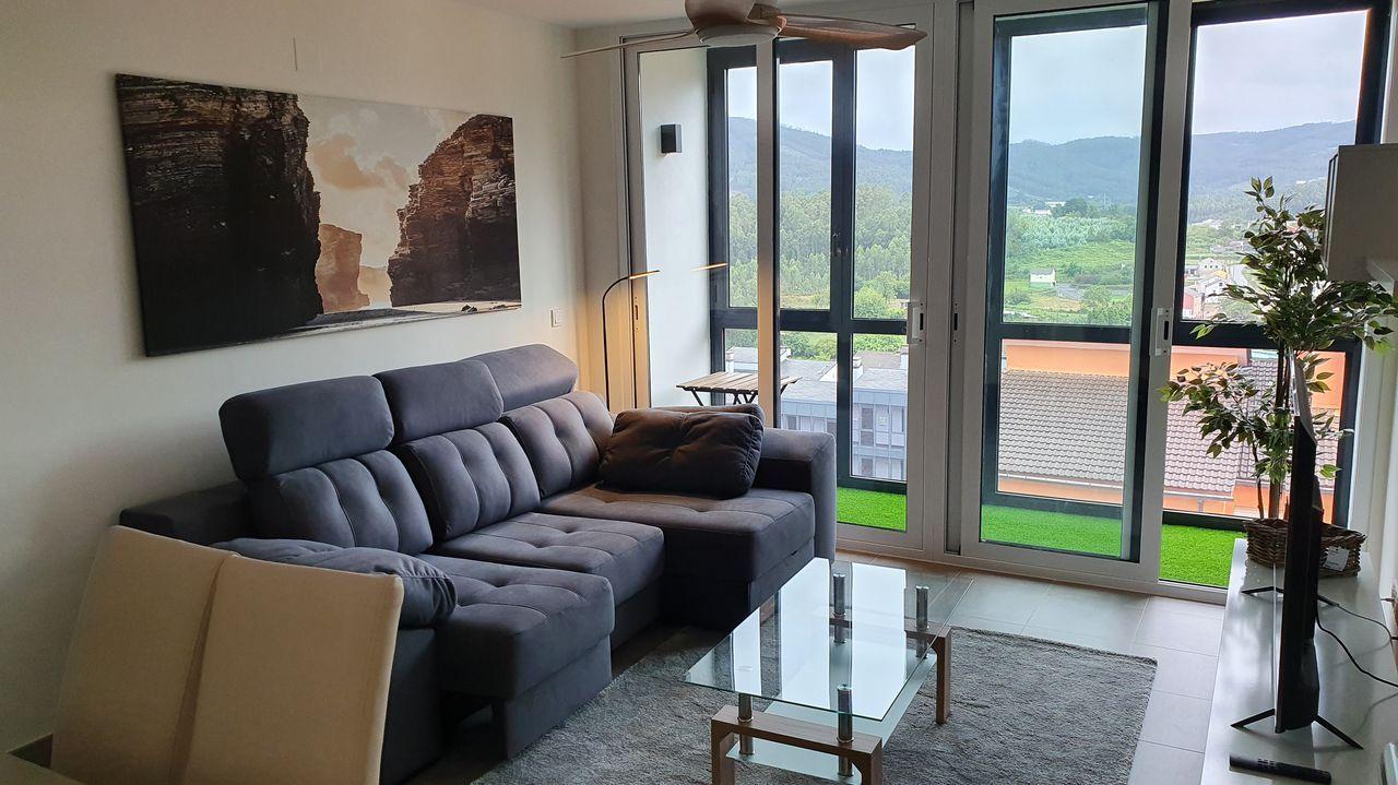 Imagen del interior de uno de los pisos comprados por Zaballos en una urbanización de Xove