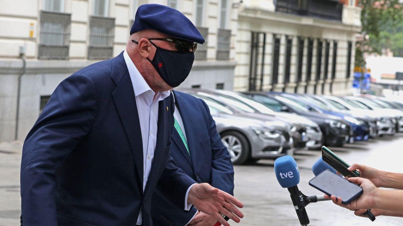 El comisario Villarejo, en la Audiencia Nacional donde comparece como investigado por el caso Tandem