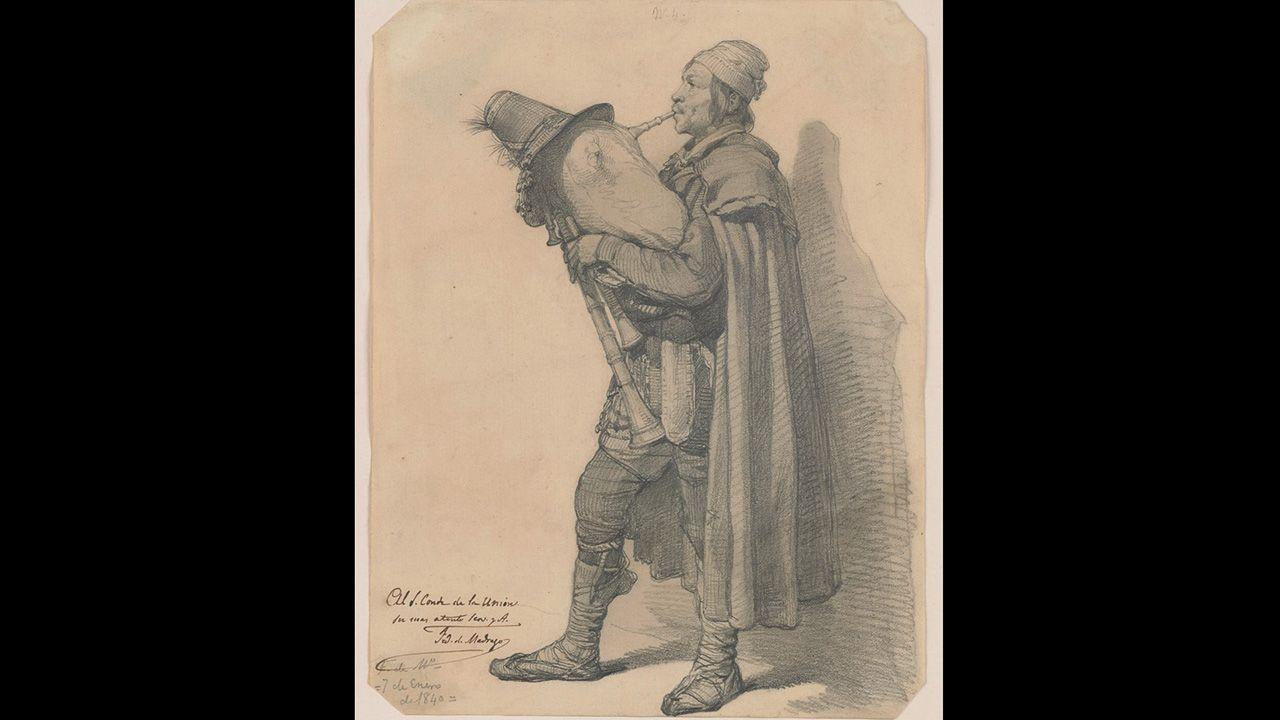 Zampognaro (1841), de Federico de Madrazo y Kuntz. Colección Villagonzalo