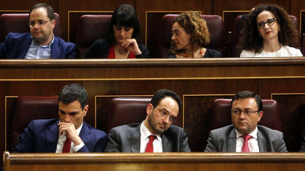 Sánchez fracasa en la primera votación de la investidura.Errejón e Iglesias, en el Congreso