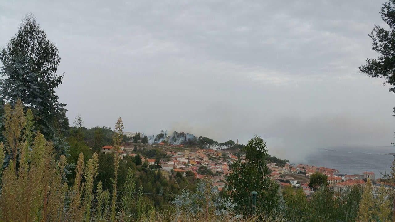 Incendio en Baiona