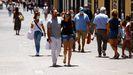 Turistas sin mascarilla en La Laguna