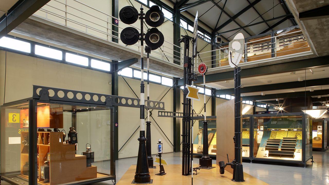 Interior del Museo del Ferrocarril