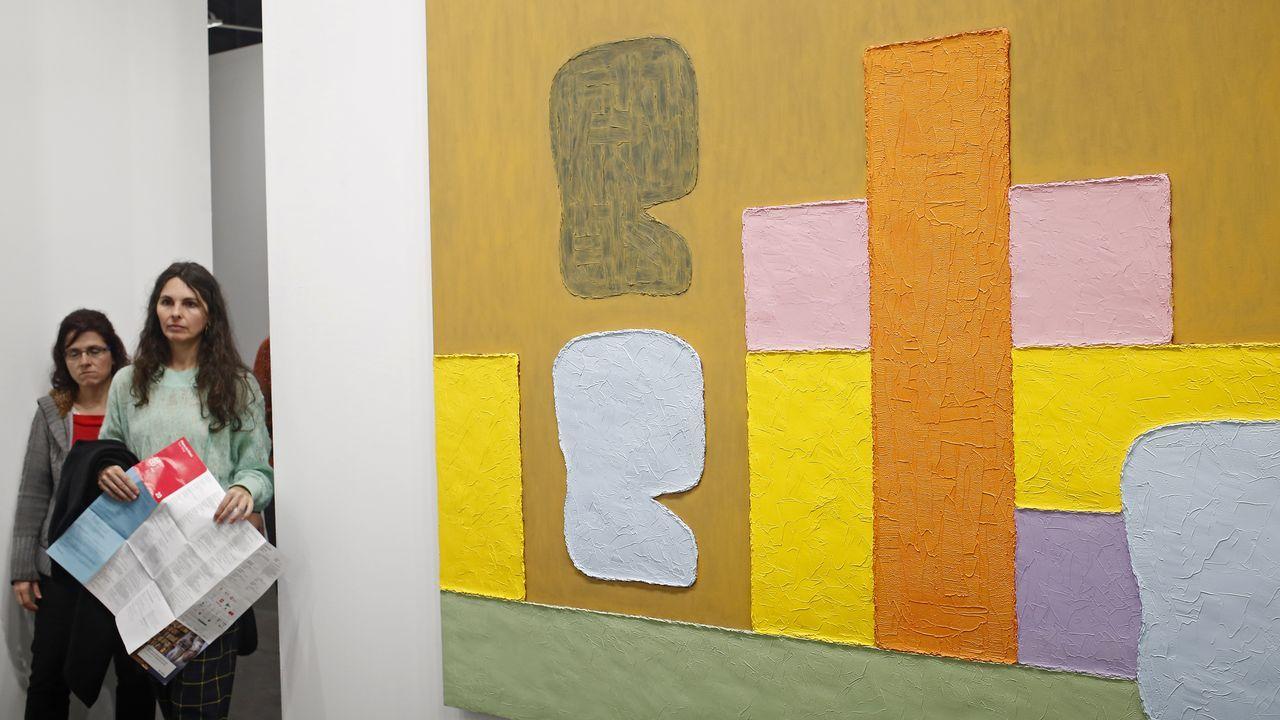 Espectacular pintura de Jonathan Lasker en la galería londinense Timothy Taylor