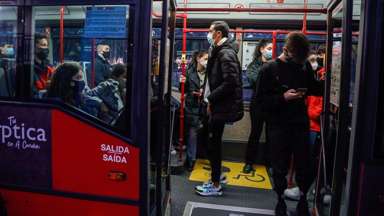 Autobús a la universidad en A Coruña