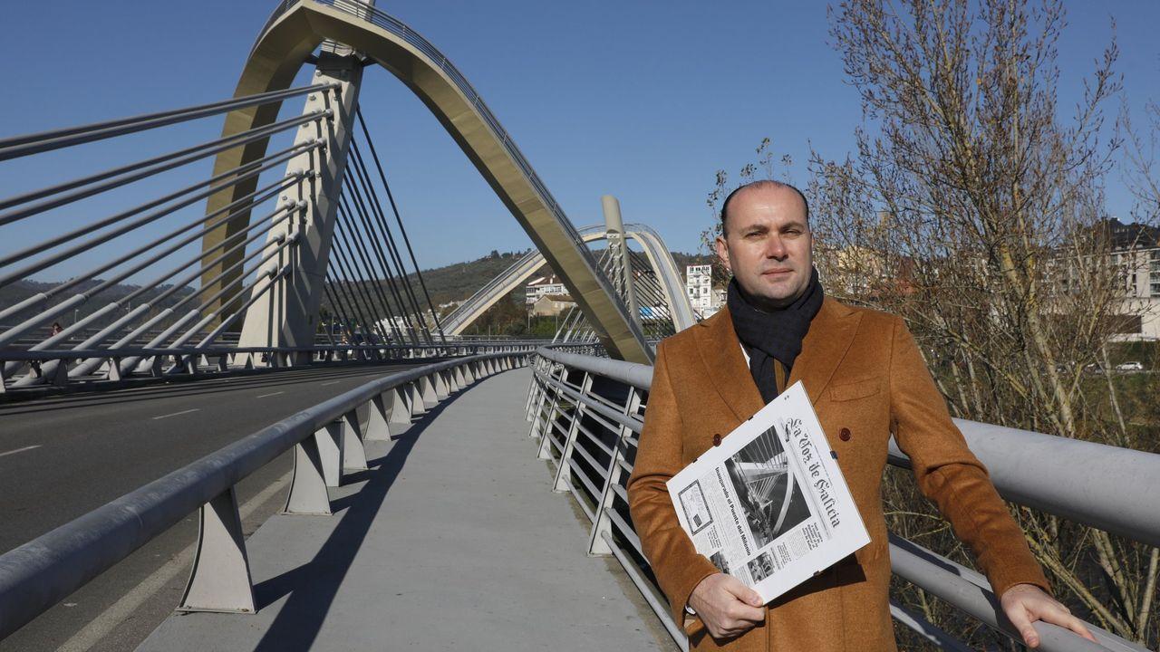 El Miño en Ourense, en prealerta. Piscinas de Oira inundadas.Nieve en la aldea de A Veneira de Roques, en A Pobra do Brollón