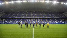 Los aficionados homenajeados por el Real Oviedo
