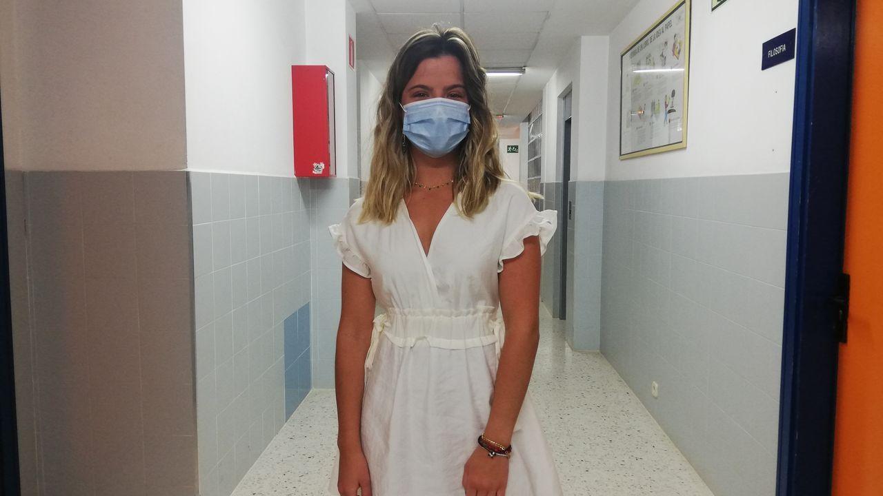 Carlota Pombar, alumna del IES Blanco Amor, de Ourense