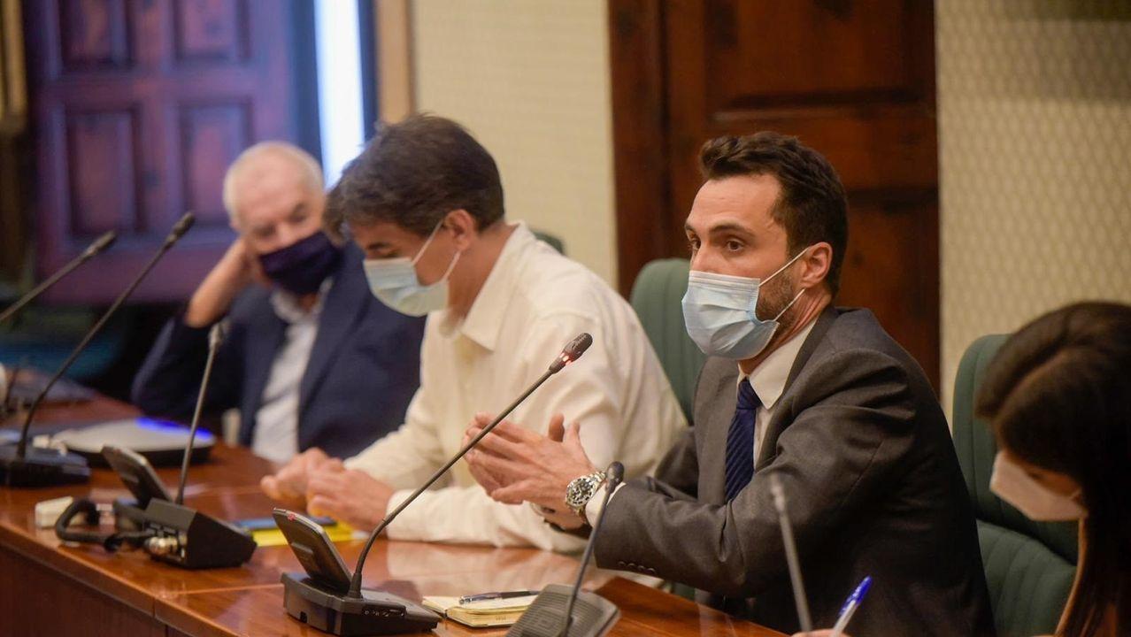 Ernest Maragall, Sergi Sabrià y Roger Torrent en la reunión del grupo de ERC en el Parlament el pasado miércoles 15 de julio