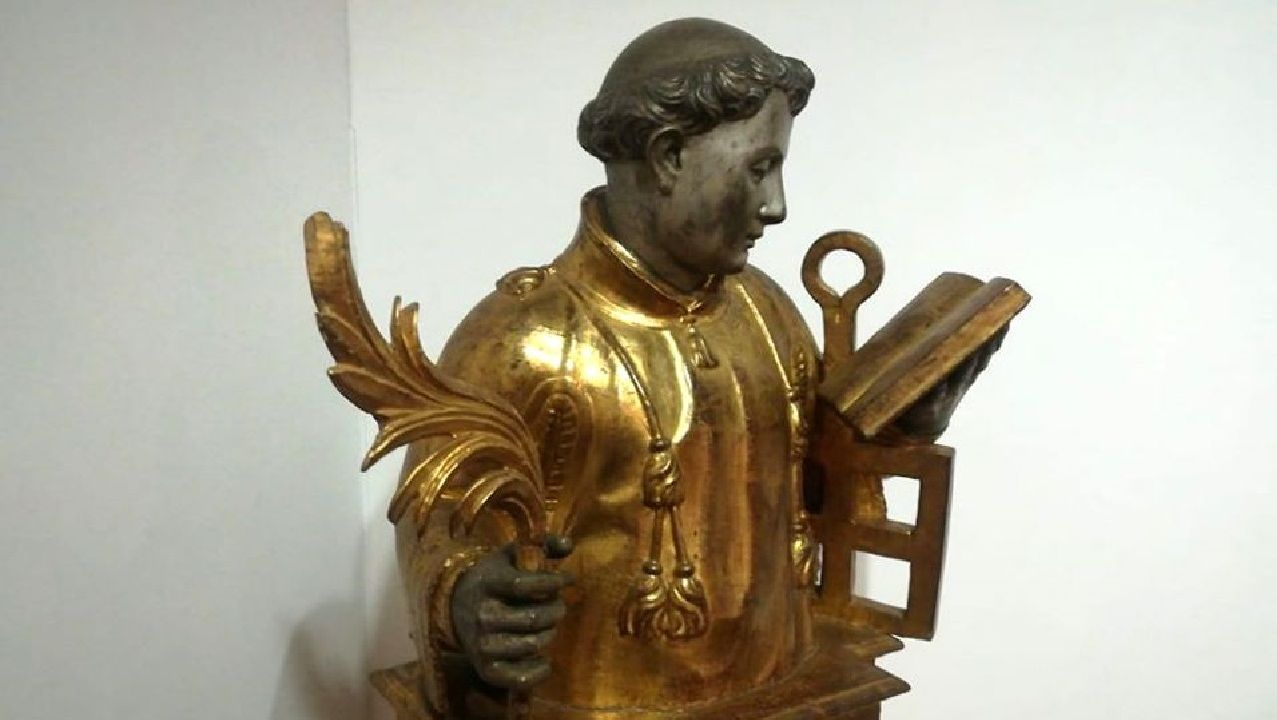 Imágenes que dejó el Xoves de Compadres en la comarca de Lemos.En el Museo de Arte Sacro de Monforte se conserva un relicario del siglo XVII con la imagen de san Lorenzo que perteneció a la colección personal  del séptimo conde de Lemos