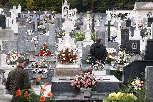 Cementerio de San Froilán, en Lugo, el día de difuntos
