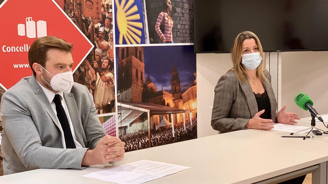 Lara Méndez y el concejal Álvaro Santos