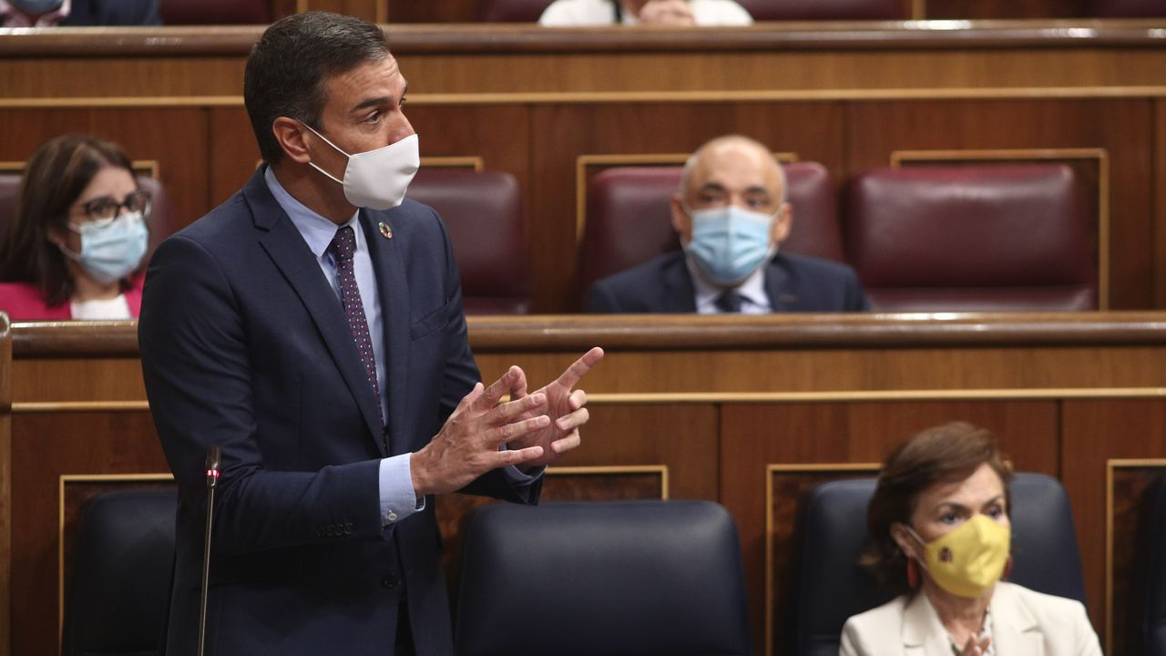 En directo |El Tribunal Supremo revisa la inhabilitación de Quim Torra.El presidente del Gobierno, Pedro Sánchez, interviene durante la primera sesión de control al Gobierno en el Congreso.