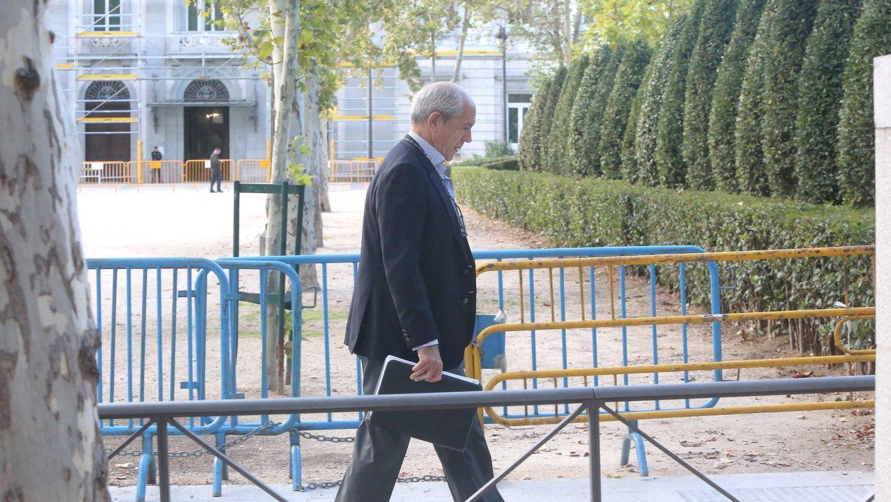 Gregorio Gorriarán, ex director general adjunto de Caixanova, a su llegada a la Audiencia Nacional