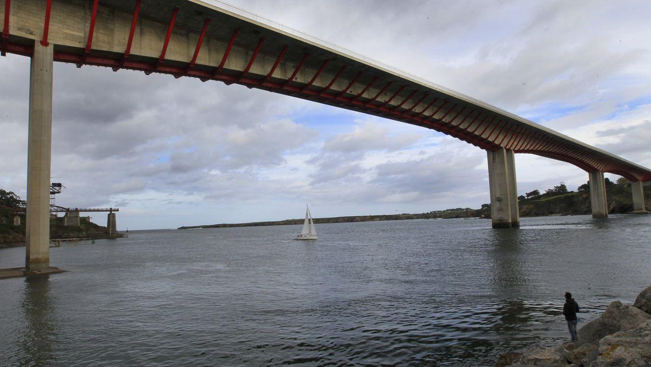 Puente de los Santos, que une Galicia y Asturias