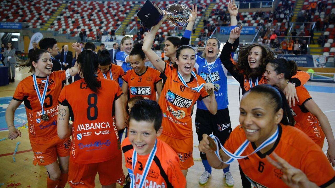 As imaxesda 7ª Gala Galega do Deporte Femenino.Toña Is, seleccionadora del combinado sub-17 femenino