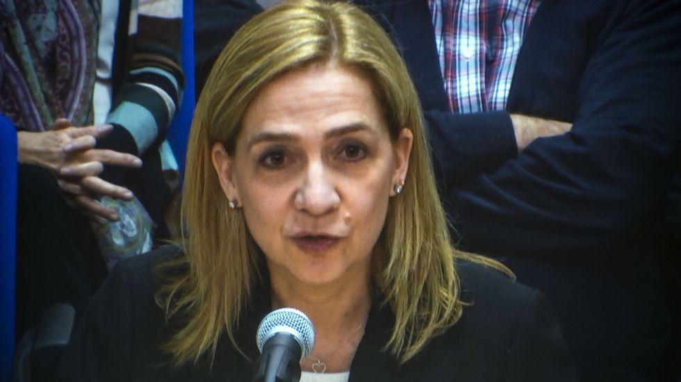 La infanta asegura que era Urdangarín «quien se encargaba de las cuestiones económicas de la familia»