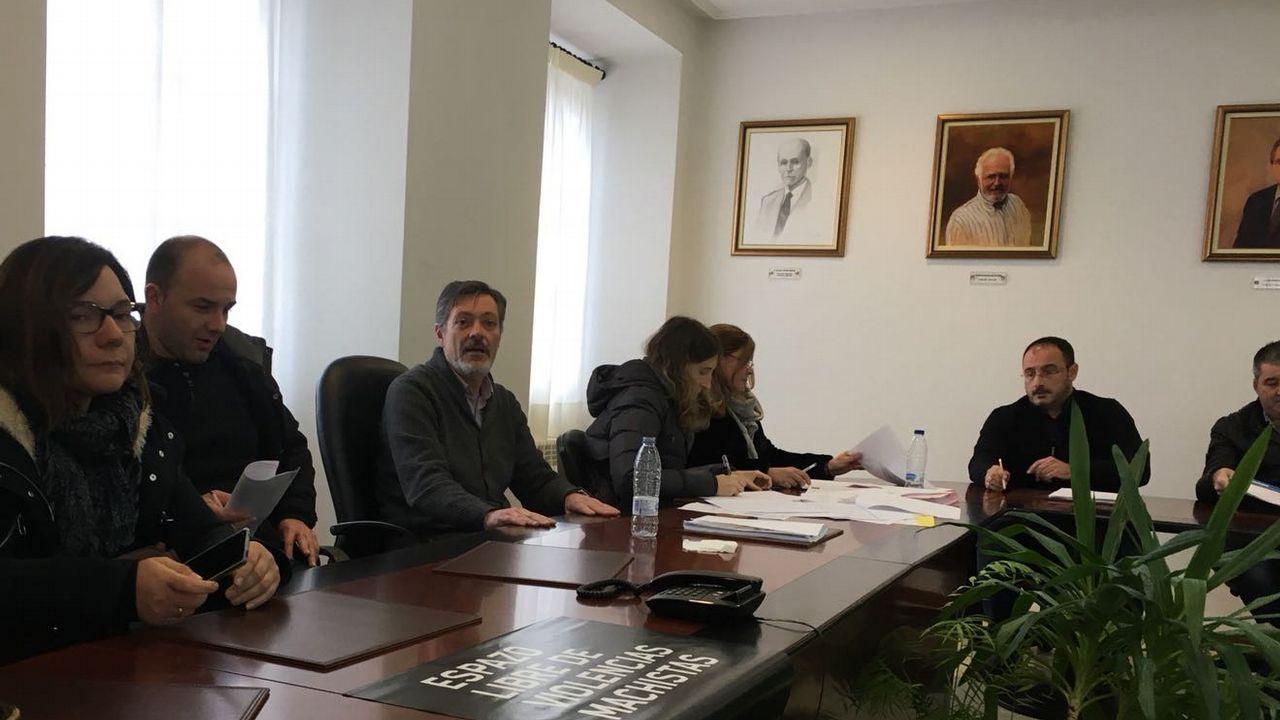 Las caras del equipo de Gobierno de Pedro Sánchez.Imagen de la sesión plenaria del mes de febrero