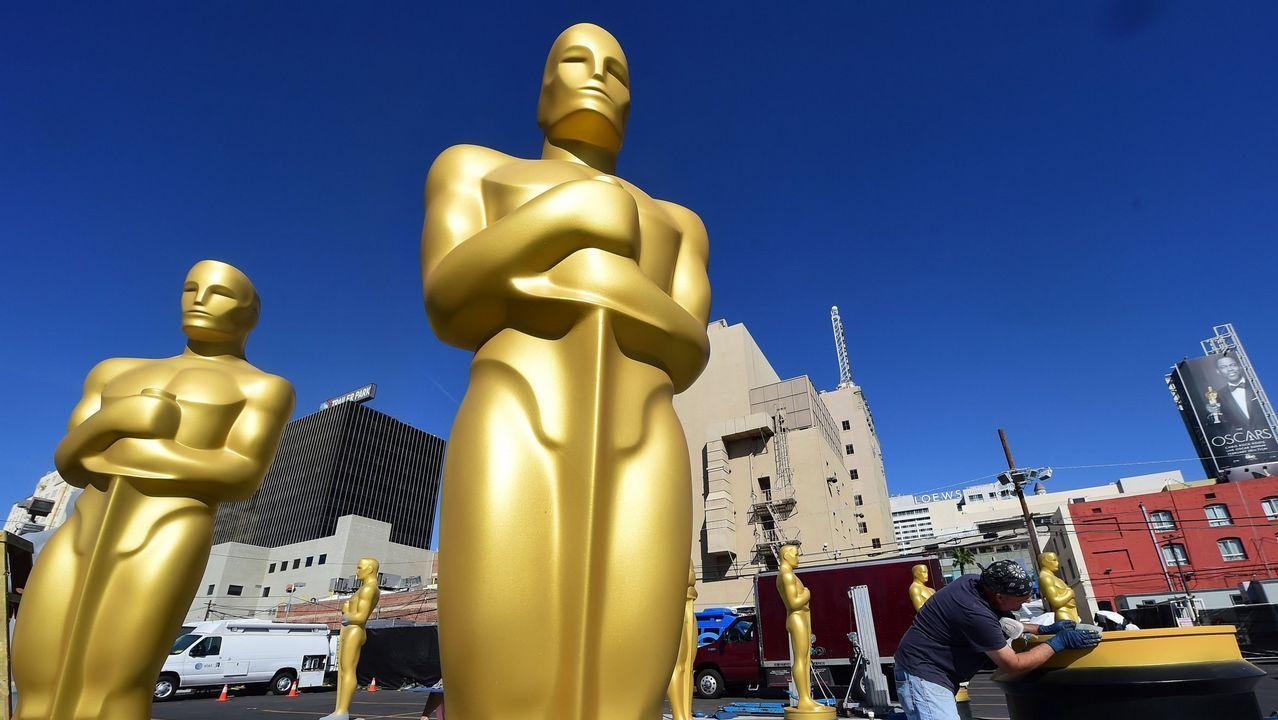 Imagen de archivo de la preparación de la gala de los Óscars