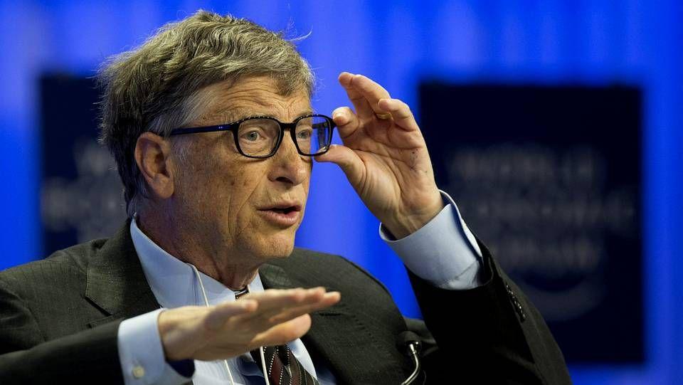 La loca presentación del nuevo dueño de los Clippers.Bill Gates durante su intervención en el Foro Económico Mundial de Davos a finales de enero