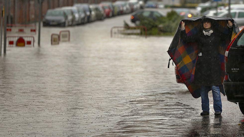 Inundaciones en el entorno del estadio de Balaídos, en Vigo