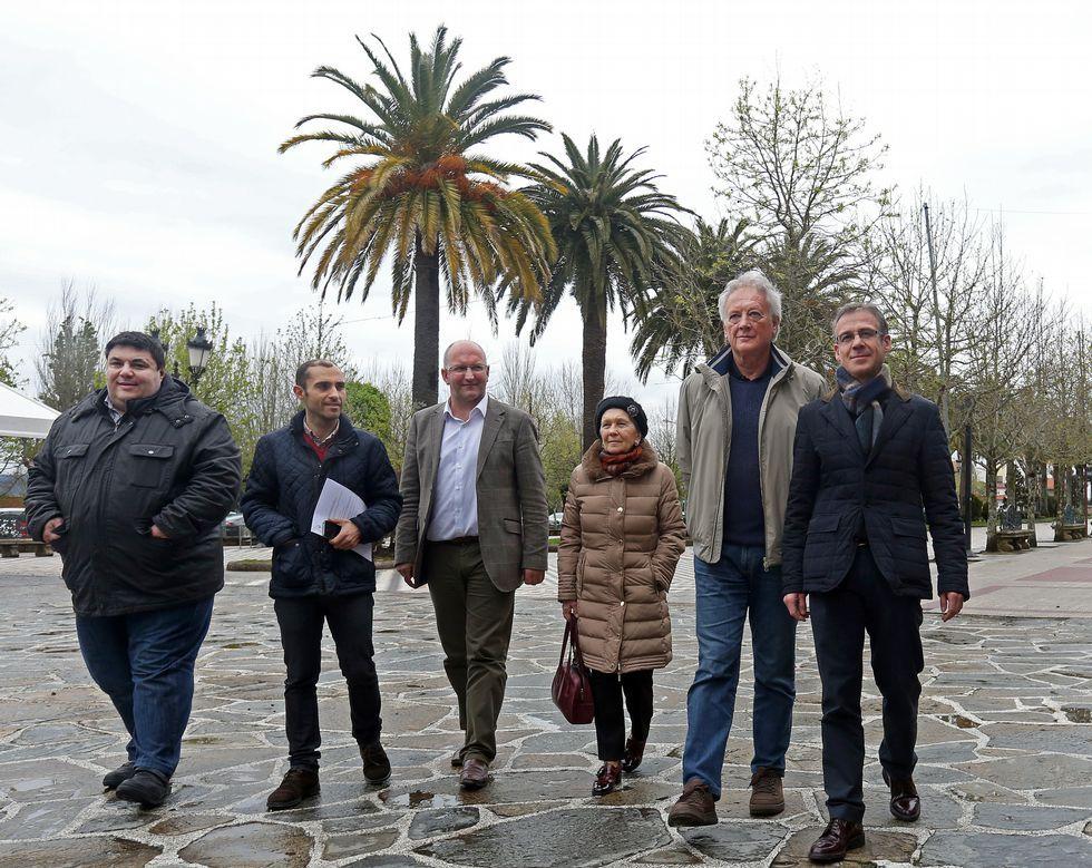 Tres patrocinadores estuvieron en la presentación del concurso con José Pérez, Freire y Alfonso Costa