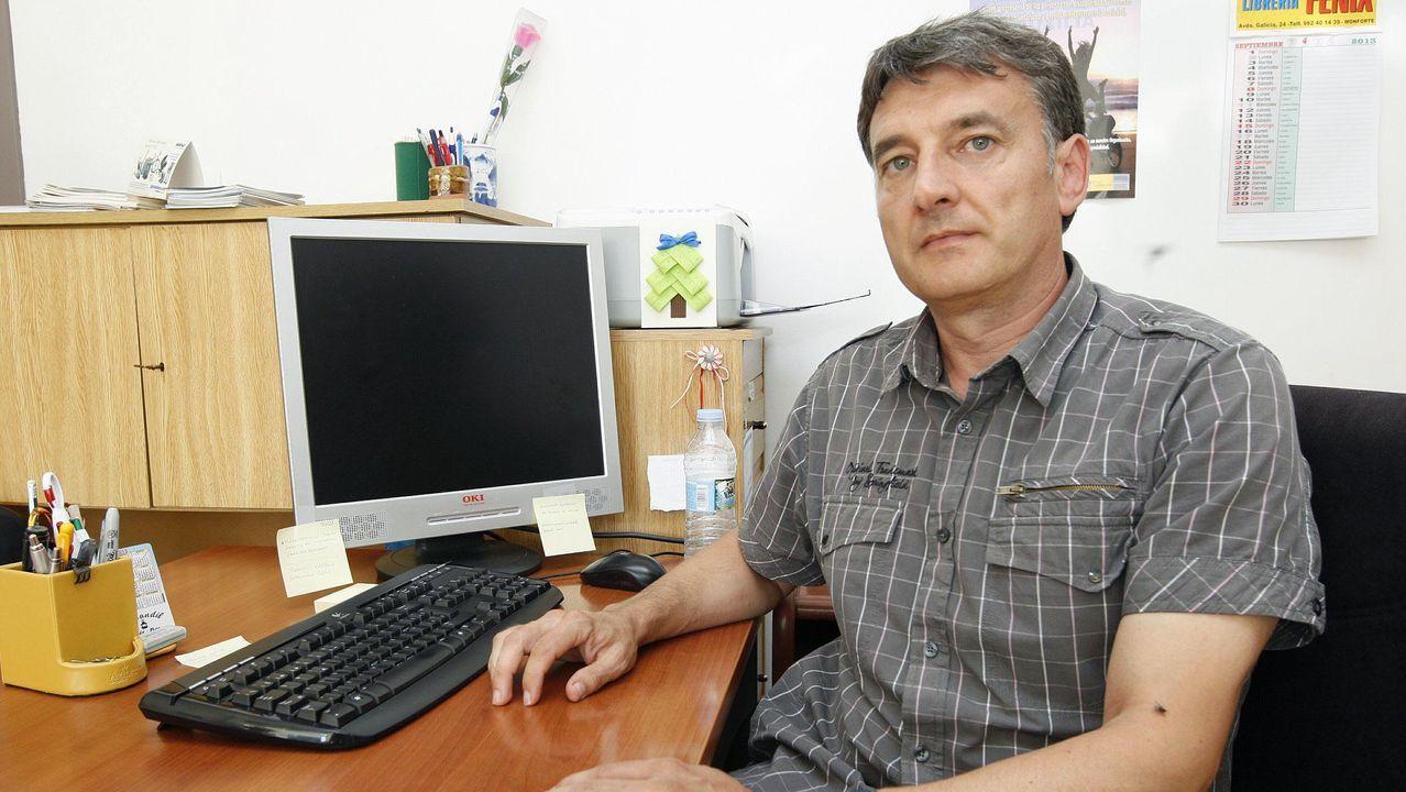 Manuel Carballedo, trabajador social de Afamon, se encarga de coordinar las jornadas