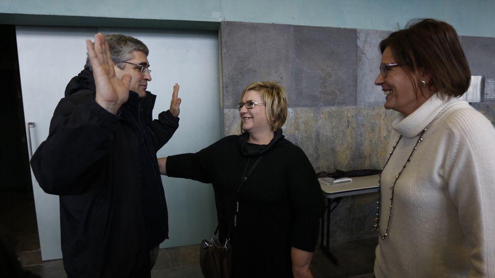 Carlos Aymerich (izda)  y Carme Adán (derecha)