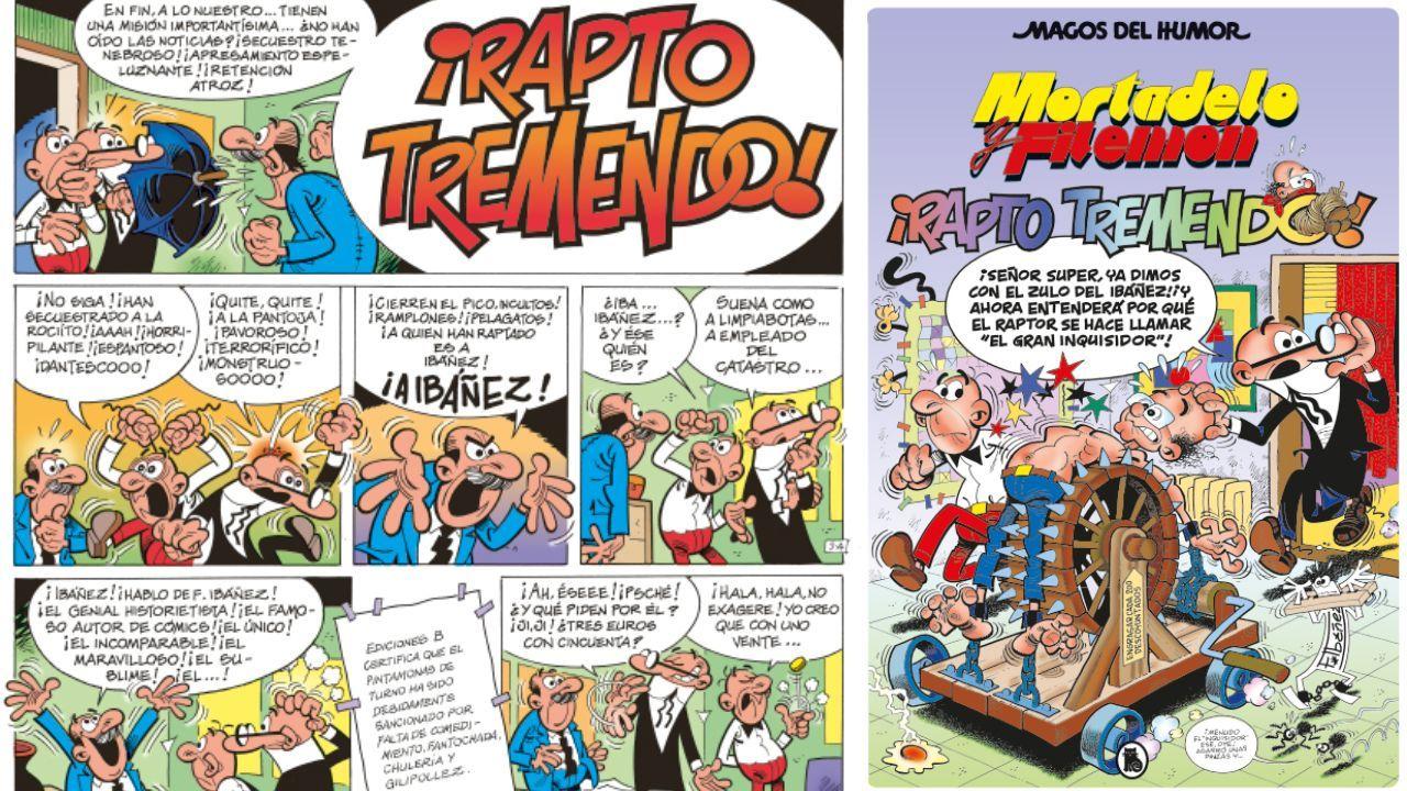 «¡Rapto tremendo!» es la segunda entrega de la colección de La Voz. La tercera, que llegará el domingo día 9, es «La casa amarilla», con Superlópez