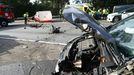 Accidente de tráfico en la zona de Faramello