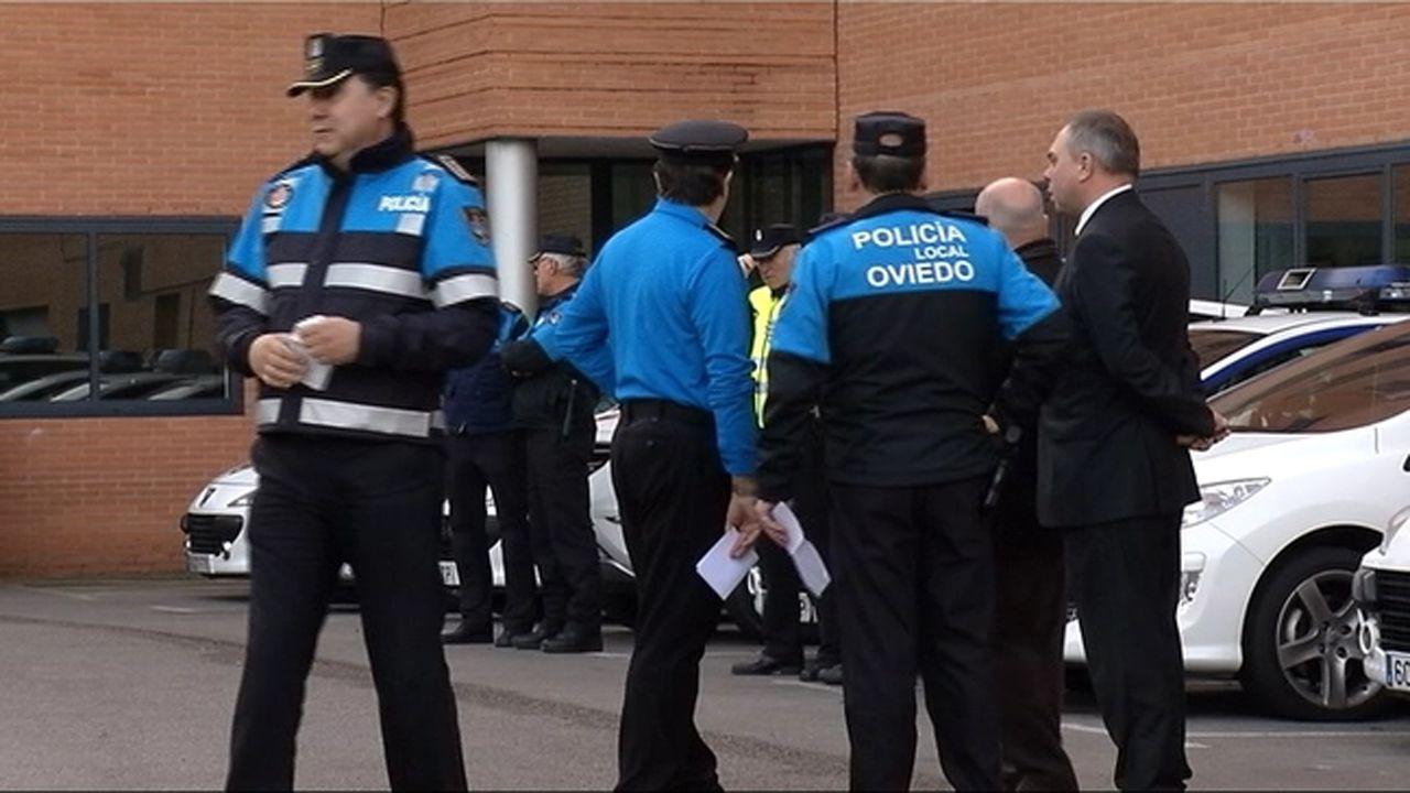 Agentes de la Policía Local de Oviedo