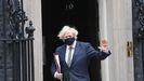 Boris Johnson, a su salida el miércoles de Downing Street.